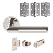 JB Kind Roller Lever on Rose Door Handle Pack Passage or Privacy