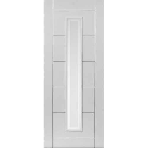 JB Kind Internal White Primed BARBICAN 1 Light Etched Glazed Door