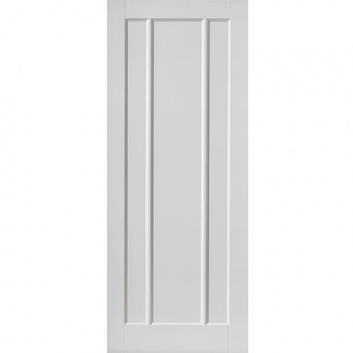 JB Kind Internal White Primed JAMAICA Contemporary 3 Panel Door