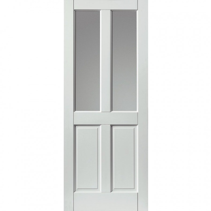 Video of JB Kind External White Colonial Medite Tricoya Extreme Pre-finished Double Glazed Door 838mm