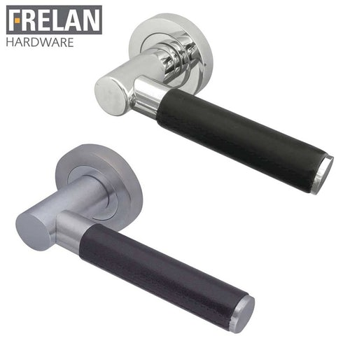 frelan-hardware-ascot-leather-internal-curved-door-handle-pair-lever-on-rose