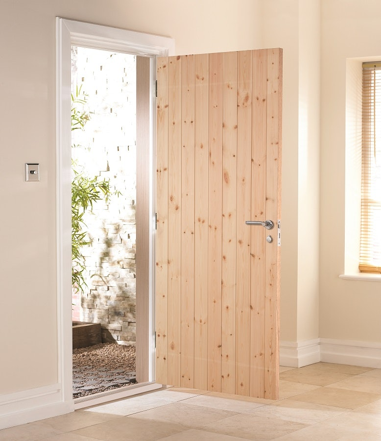 new styles 91d5b 406c1 JELD-WEN Redwood Ledged and Braced External Shed Door