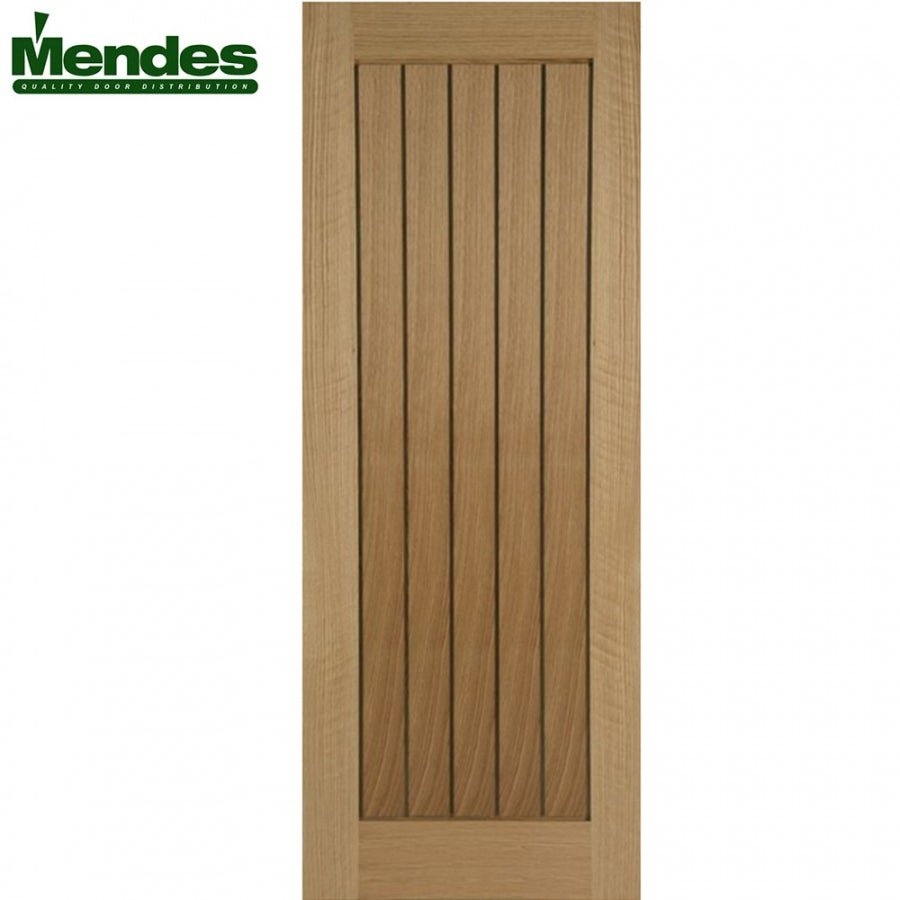 Mendes Mexicano Internal Un-Finished Oak Grooved Door 726mm