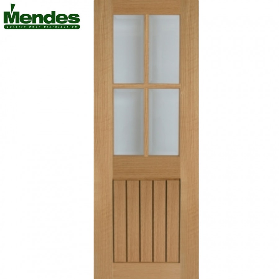 Mendes Mexicano Internal Un-Finished 4 Light Glazed Door 762mm