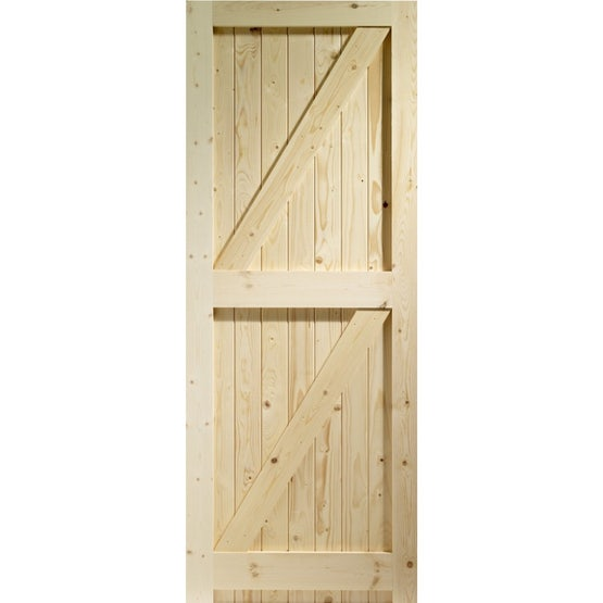 """XL Joinery External Softwood Pine BOARDED Frame Ledged & Braced Door (27"""" x 78"""")"""