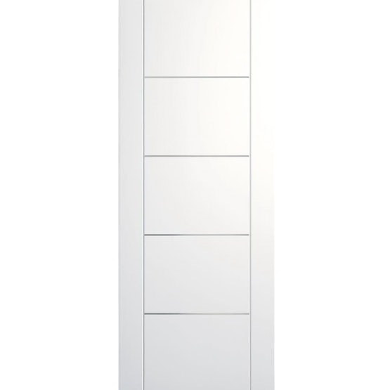 """XL Joinery Internal White Primed PORTICI Pre-Finished Door (24"""" x 78"""")"""