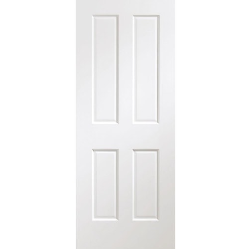 "XL Joinery Internal White Primed VICTORIAN Pre-Finished 4 Panel Door (27"" x 78"")"