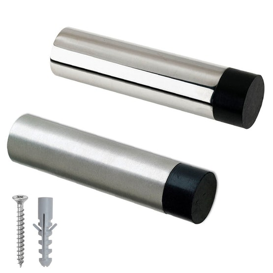 Zoo Hardware Projecting Wall Mounted Door Stop Polished Stainless Steel