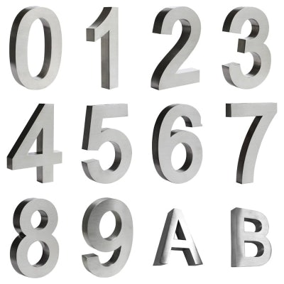 3D Stainless Steel Wall Door Number and Letter Sign