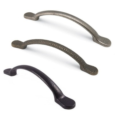 HAMMERED Antique D Style Cupboard Door and Drawer Pull Handle