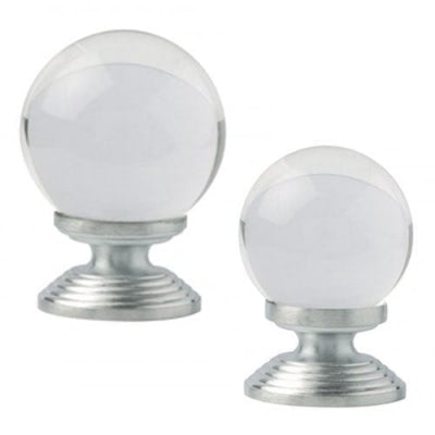 Excel Wardrobe Knob Clear Round Crystal Design