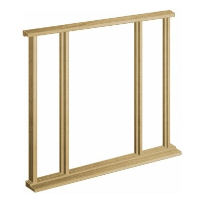 LPD External Door Frame Oak Type Vestibule Universal Sidelight Kit