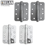Frelan Hardware Pair of Grade 11 Fire Rated Steel Radiused Ball Bearing Door Hinges
