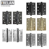 Frelan Hardware Pair of Grade 13 Fire Rated Stainless Steel Ball Bearing Door Hinges
