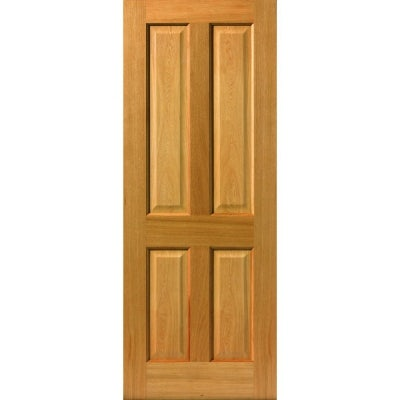 JB Kind Internal Oak SHERWOOD Pre-Finished 4 Panel Fire Door FD30