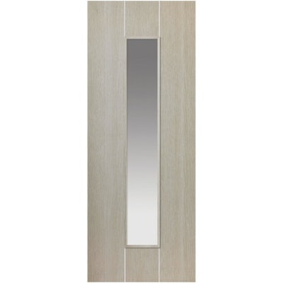 JB Kind Internal VIRIDIS Pre-Finished Natural Painted 1 Light Clear Glazed Door