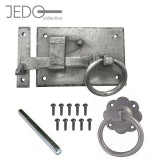 Jedo Hand Forged Pewter Heavyweight Ring Pull Door Gate Latch