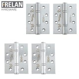 Frelan Hardware Pair of Grade 13 Fire Rated Stainless Steel Polymer Bearing 3 Knuckle Door Hinges