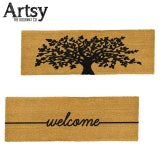 Artsy Long Coir Doormat Non Slip Indoor Outdoor Mat