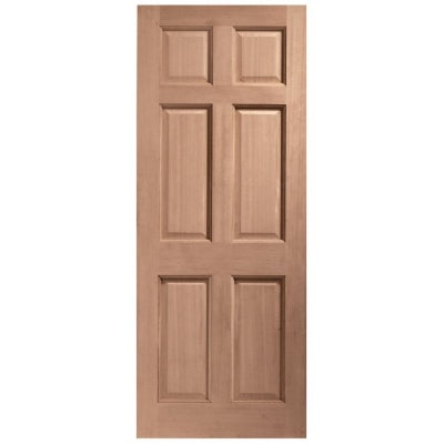 LPD External Hardwood COLONIAL Traditional 6 Panel Door D&G