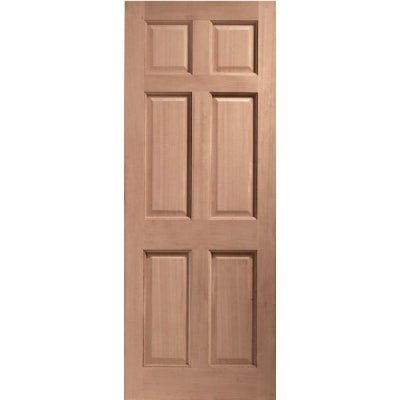 LPD External Hardwood COLONIAL Traditional 6 Panel Door M&T
