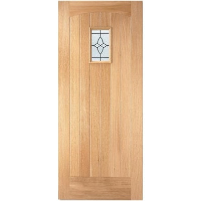 LPD External Oak COTTAGE Lead Glazed Front Door D&G