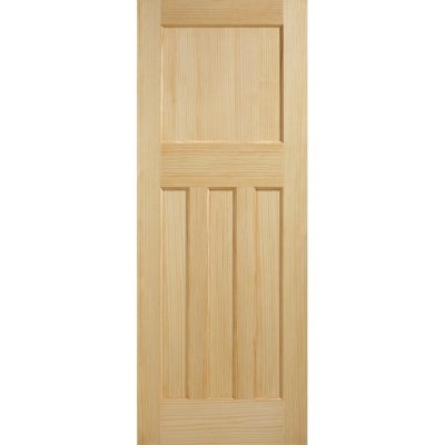 LPD Internal Radiata Pine DX 1930s Edwardian Style 4 Panel Door