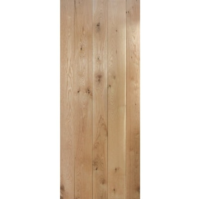 LPD Internal Solid Oak Rustic Ledged Door