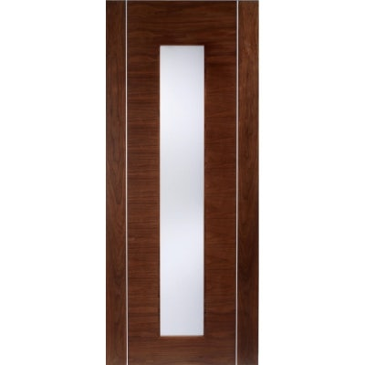 LPD Internal Walnut ALCARAZ Pre-Finished Frosted Glazed Door