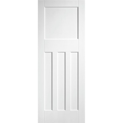 LPD Internal White Primed DX 1930s Edwardian Style 4 Panel Door