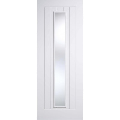 LPD Internal White Primed MEXICANO Clear Glazed Door