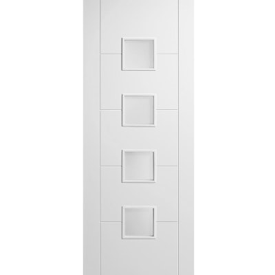 LPD Internal White Primed VANCOUVER 4 Light Frosted Glazed Door