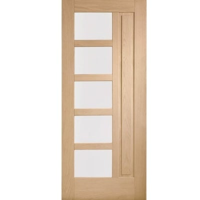 XL Joinery External Oak Lucca Obscured Double Glazed Door