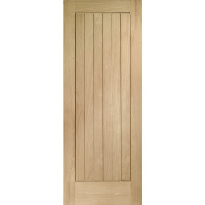 XL Joinery External Oak Suffolk Vertical Panel M&T Door