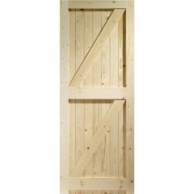 XL Joinery External Softwood Pine BOARDED Frame Ledged & Braced Shed Door