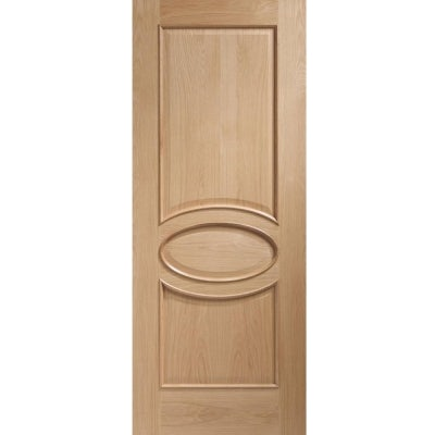 XL Joinery Internal Oak Calabria Panelled Door with Raised Mouldings
