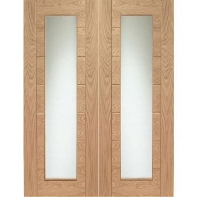 XL Joinery Internal Oak Palermo Clear Glazed Door Pair