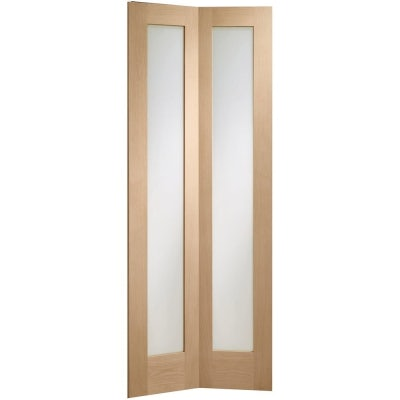XL Joinery Internal Oak Pattern 10 Bi-Fold Clear Glazed Door