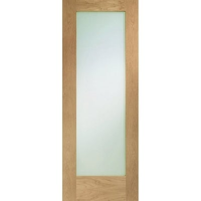 XL Joinery Internal Oak Pattern 10 Clear Glazed Fire Door FD30