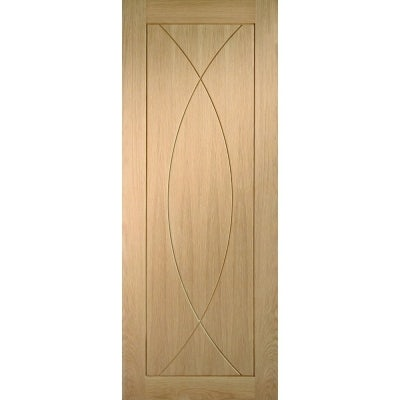 XL Joinery Internal Oak Pesaro Contemporary Grooved Flush Door