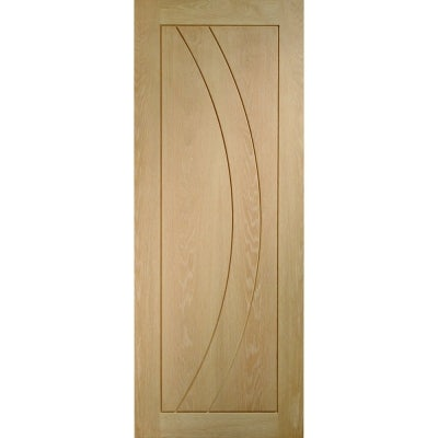 XL Joinery Internal Oak Salerno Pre-Finished Grooved Flush Door