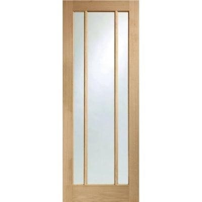 XL Joinery Internal Oak Worcester Clear Glazed Fire Door FD30