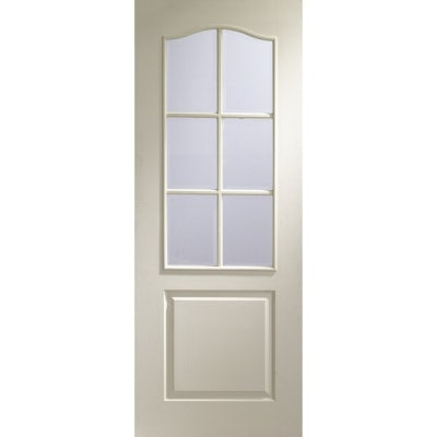 XL Joinery Internal White Moulded Classique 6 Light Clear Glazed Door