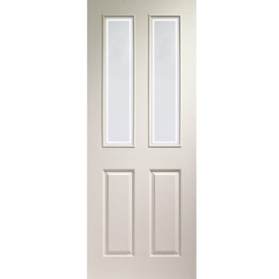 XL Joinery Internal White Moulded Victorian Forbes Glazed Door