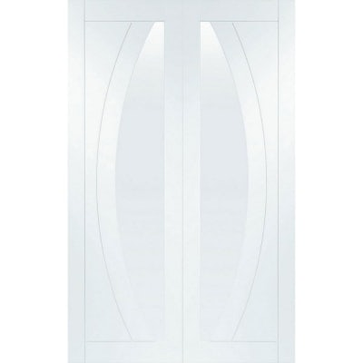 XL Joinery Internal White Primed Salerno Clear Glazed Door Pair