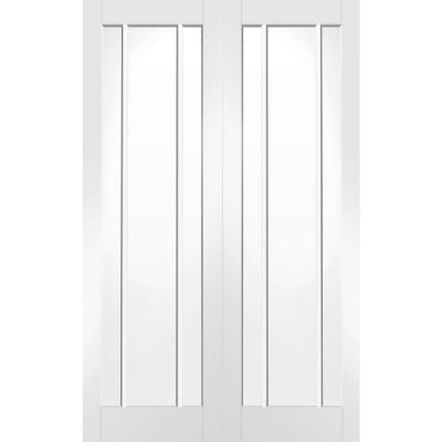 XL Joinery Internal White Primed Worcester Clear Glazed Door Pair