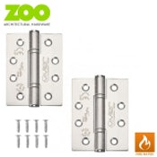 Zoo Hardware Pair of Grade 14 High Performance Fire Rated Door Hinges (SSS)